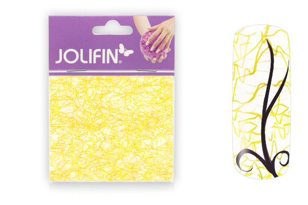Jolifin Nailart spiderweb yellow