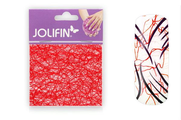 Jolifin Nailart spiderweb red