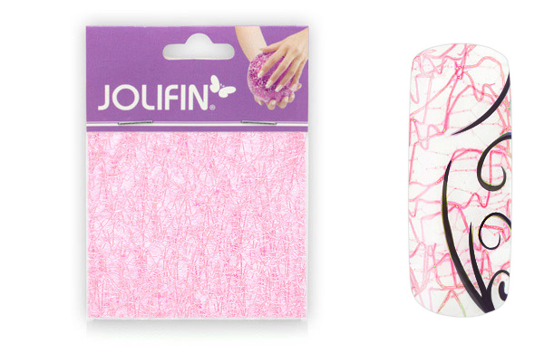 Jolifin Nailart spiderweb rose