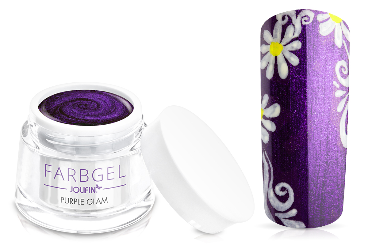 Jolifin Farbgel 4plus purple glam 5ml