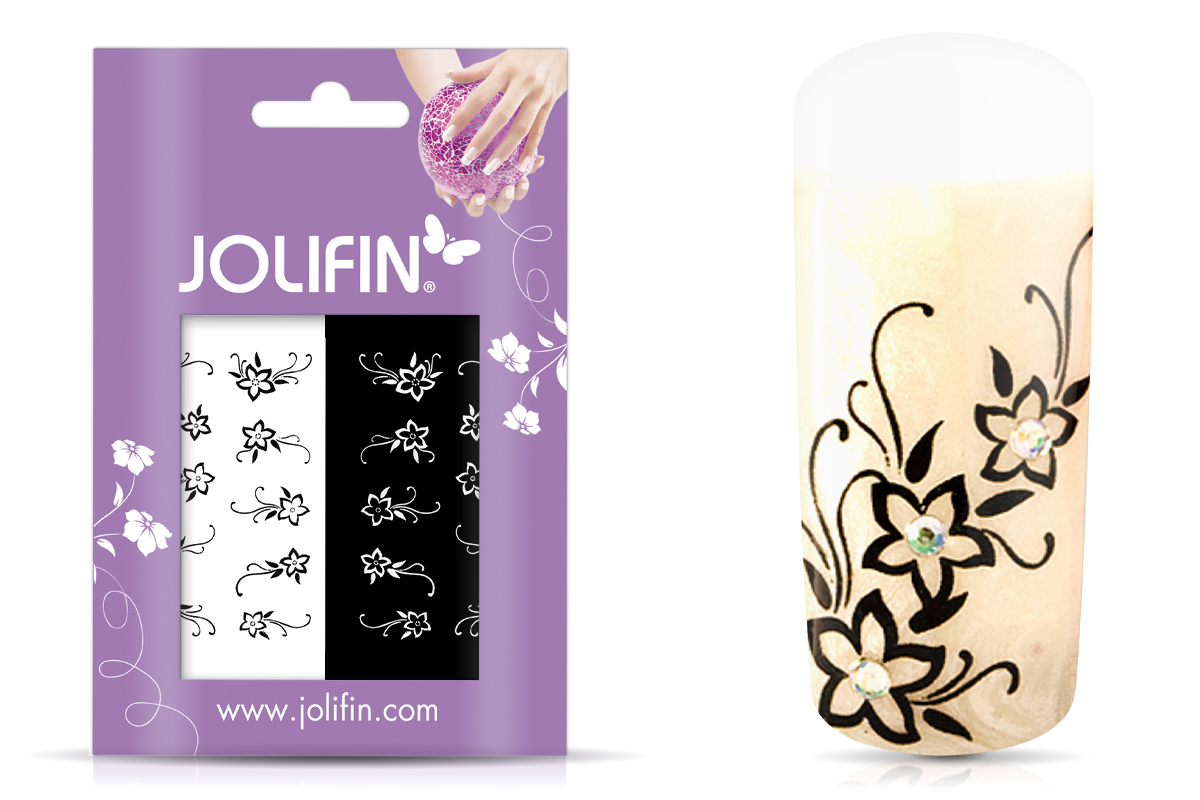 Jolifin Nailart Tattoos black and white Nr. 1