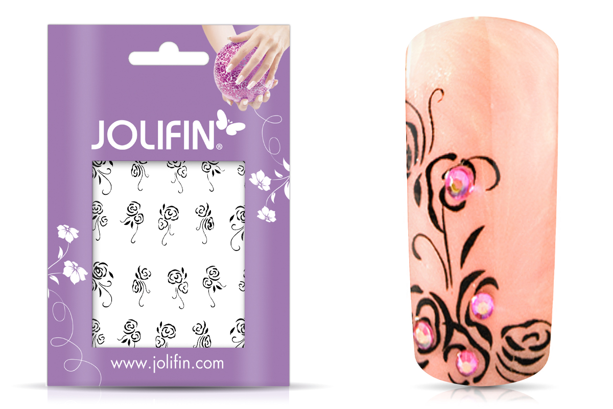 Jolifin Nailart Tattoos black and white Nr. 2