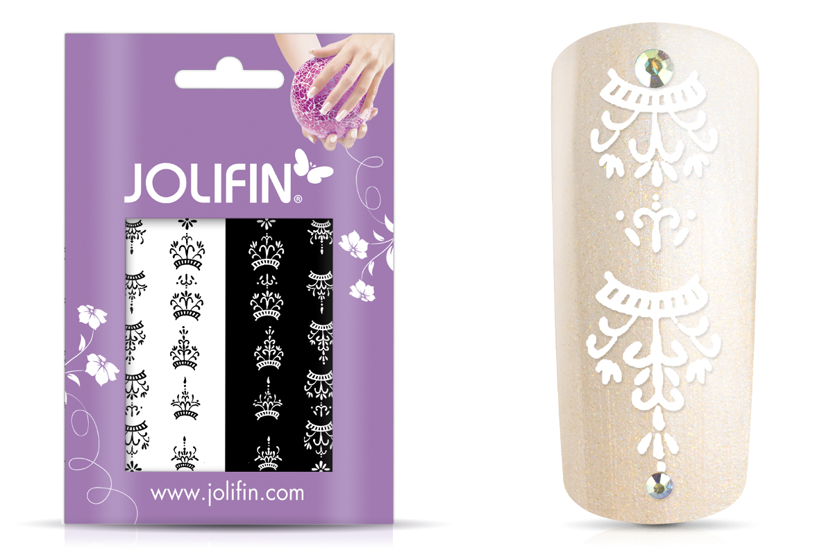 Jolifin Nailart Tattoos black and white Nr. 10