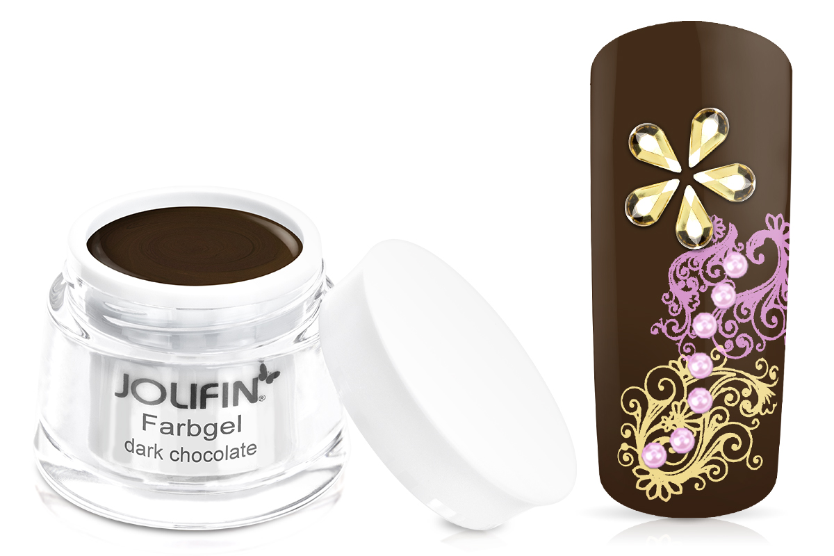 Jolifin Farbgel dark chocolate 5ml