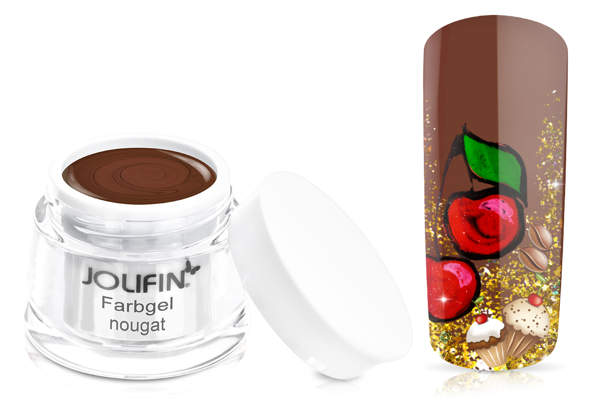 Jolifin Farbgel 4plus nougat 5ml