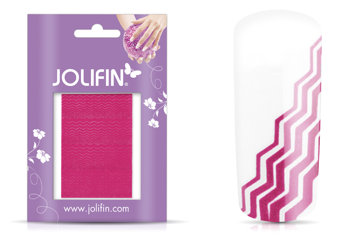 Jolifin Fancy Nail Sticker pink 1