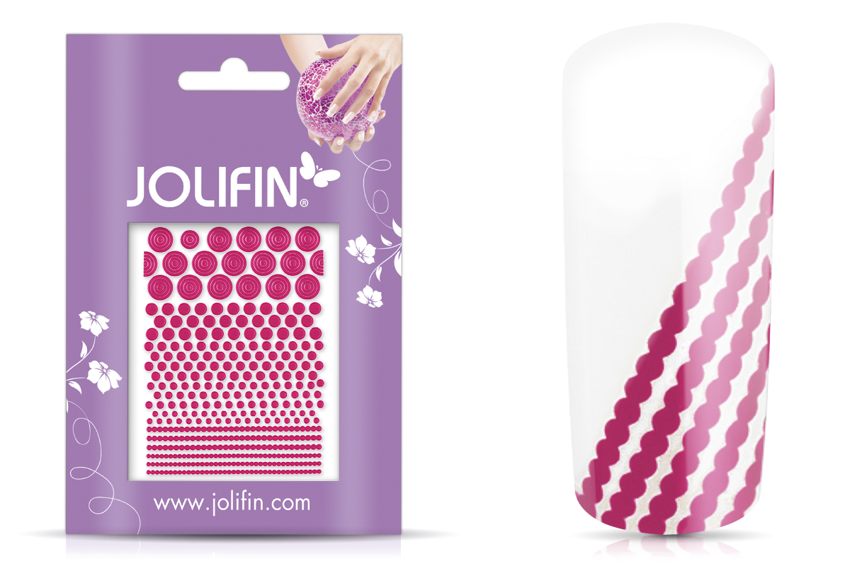 Jolifin Fancy Nail Sticker pink 3