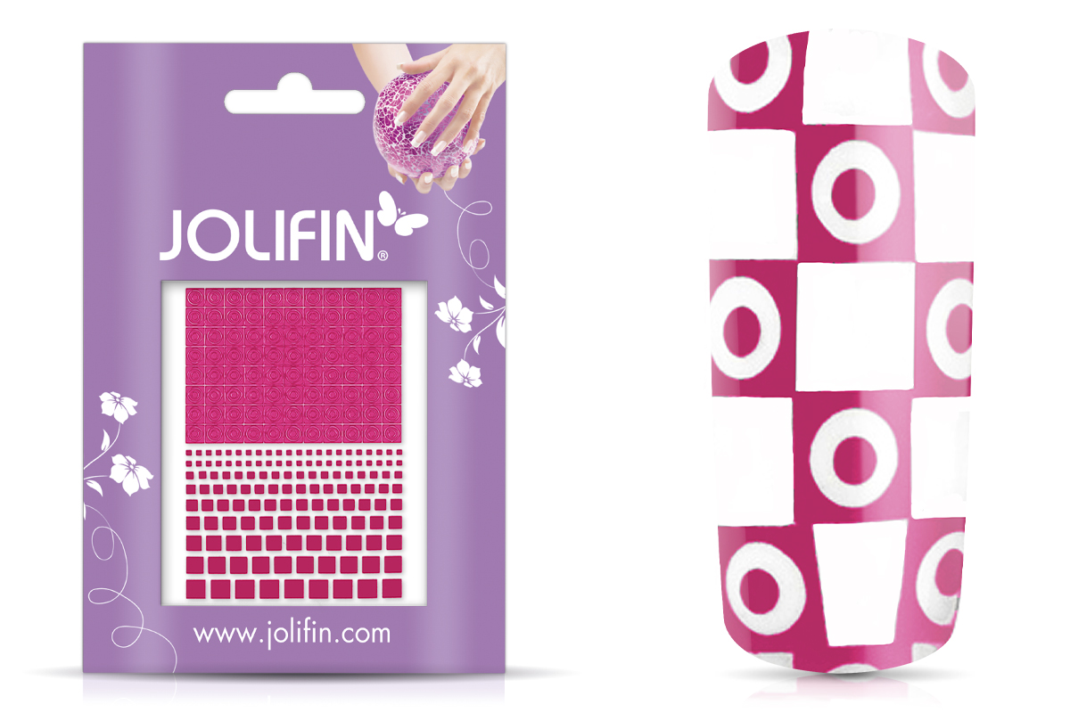 Jolifin Fancy Nail Sticker pink 8