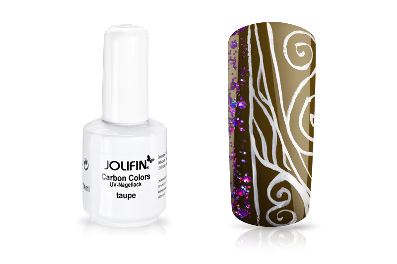 Jolifin Carbon Colors UV-Nagellack taupe 11ml