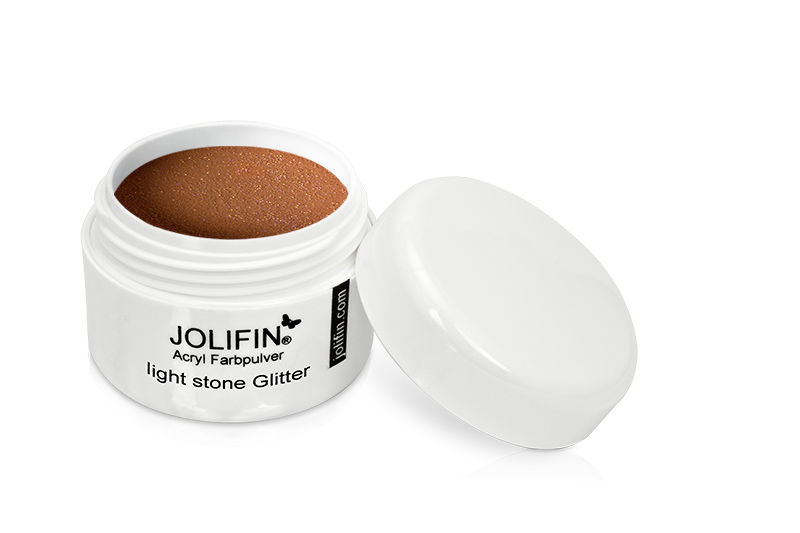 Jolifin Acryl Farbpulver light stone Glitter 5g