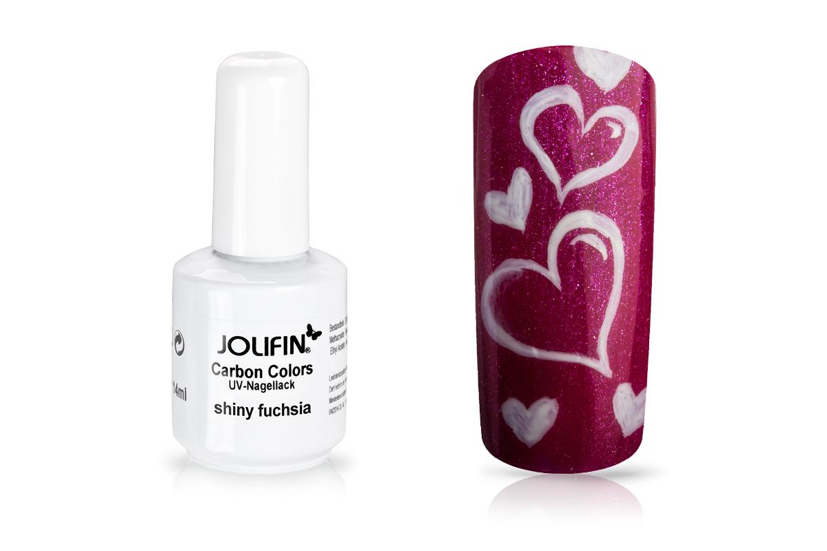 Jolifin Carbon Quick-Farbgel - shiny fuchsia 11ml