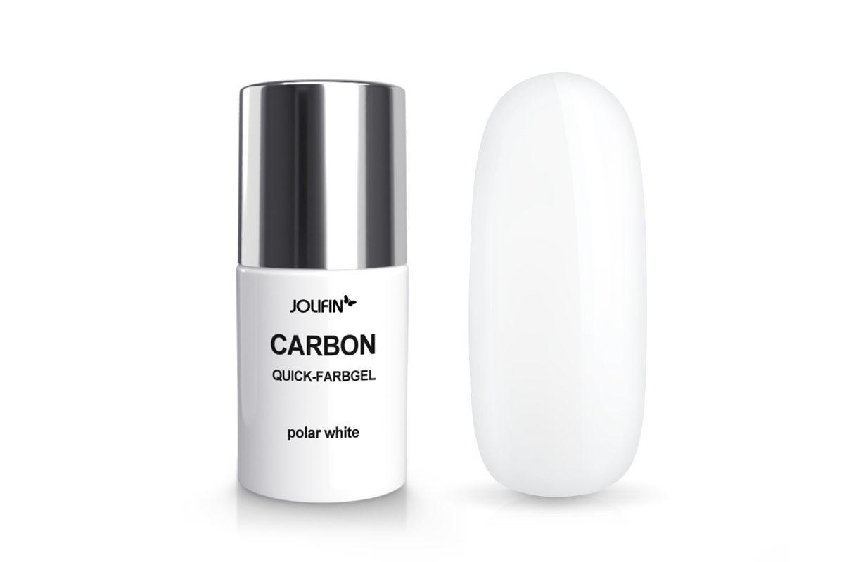 Jolifin Carbon Colors UV-Nagellack polar white 11ml