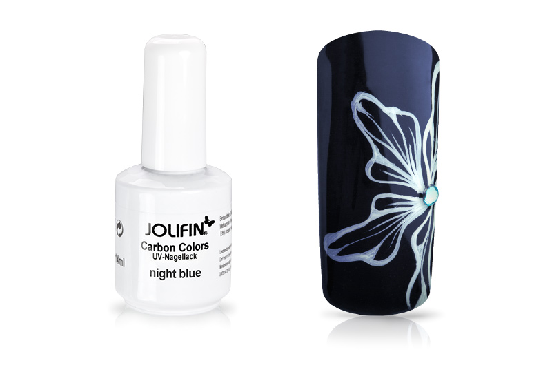 Jolifin Carbon Colors UV-Nagellack night blue 11ml