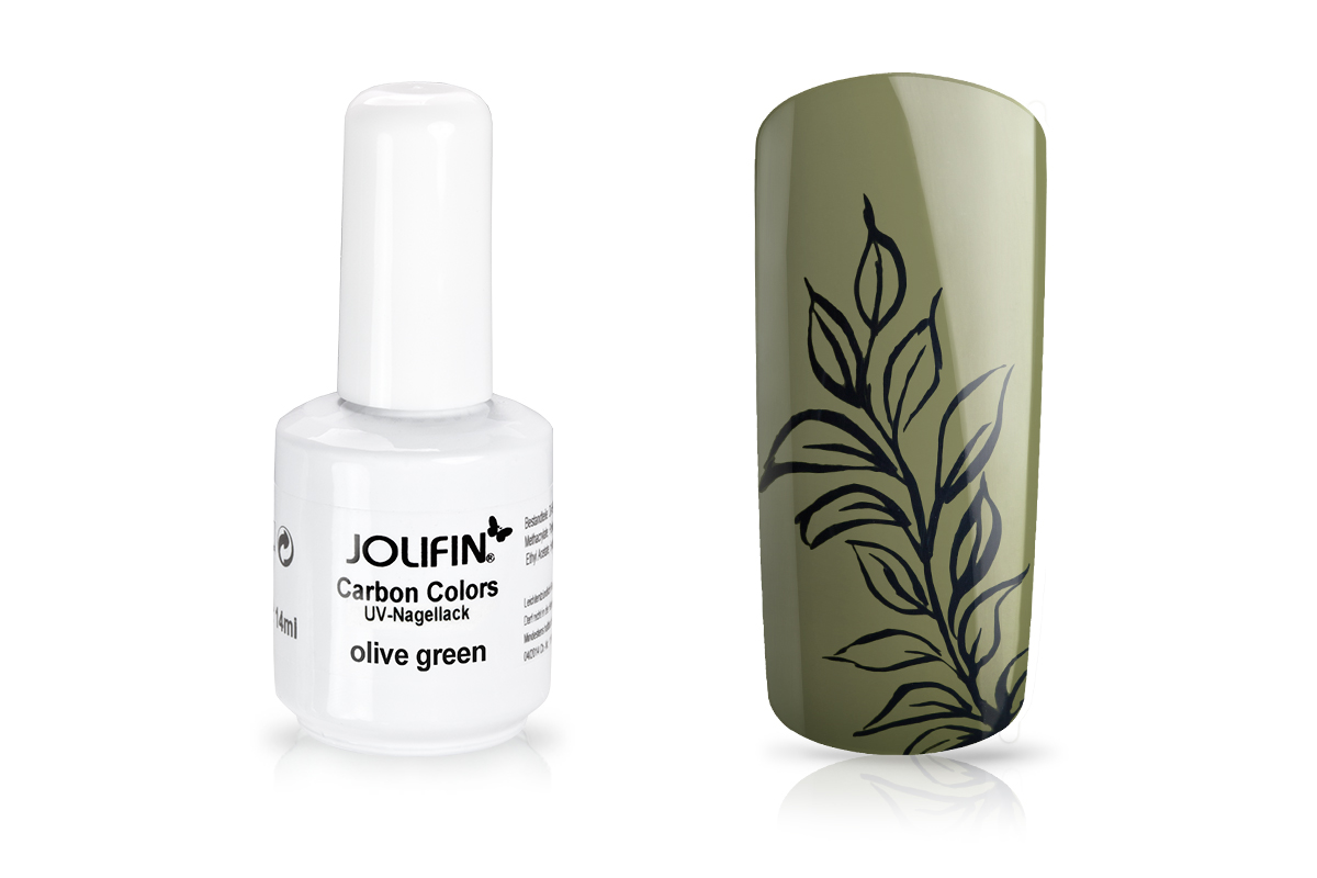 Jolifin Carbon Quick-Farbgel - olive green 11ml