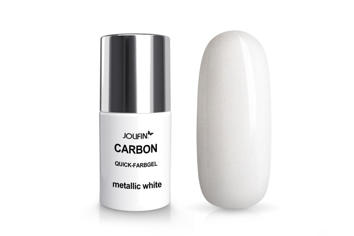 Jolifin Carbon Quick-Farbgel - metallic white 11ml