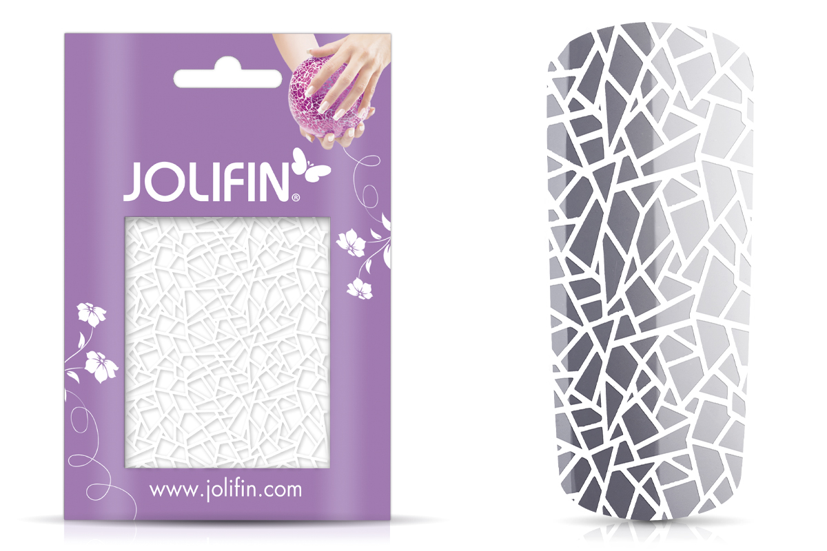 Jolifin Cracked Nailart Folie white 1