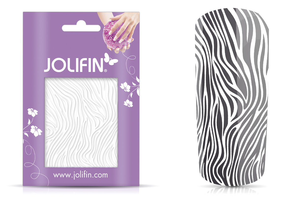 Jolifin Cracked Nailart Folie white 4