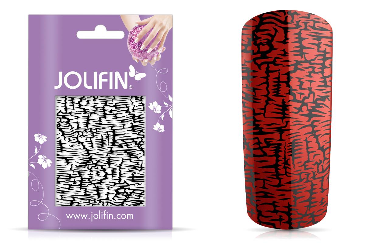 Jolifin Cracked Nailart Folie black 2