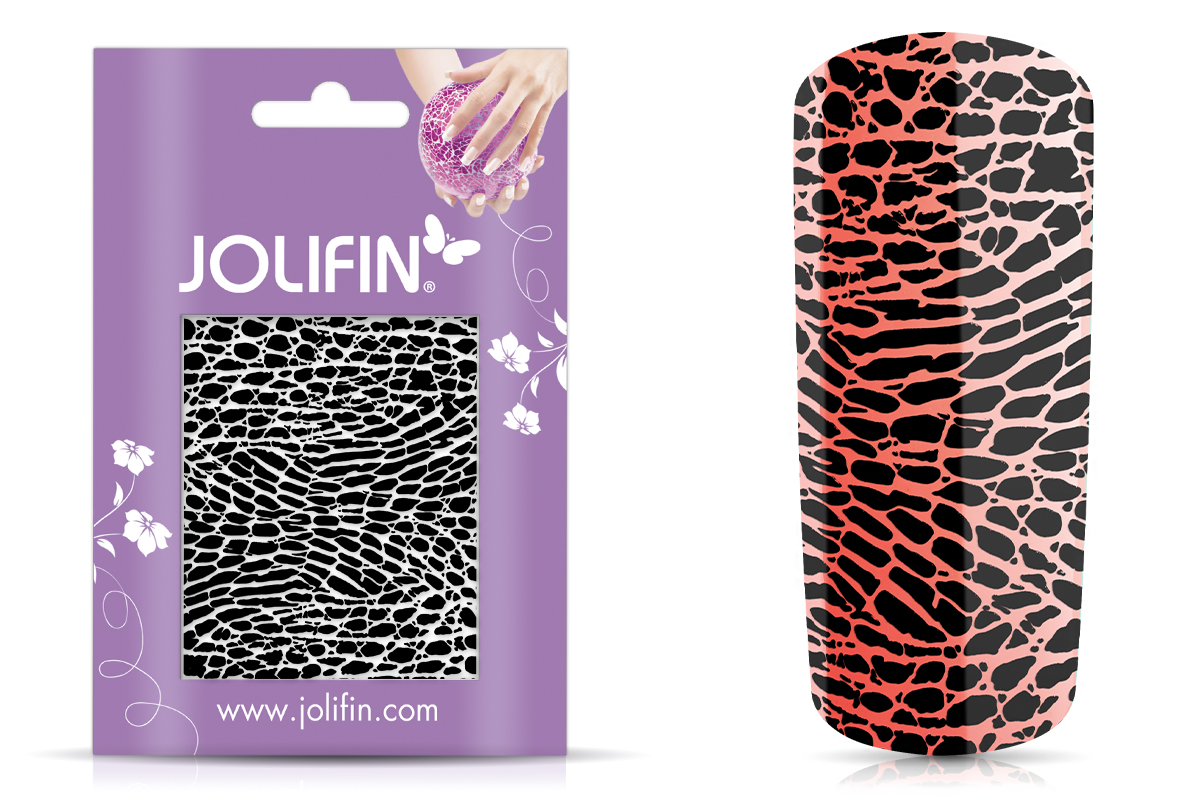 Jolifin Cracked Nailart Folie black 6