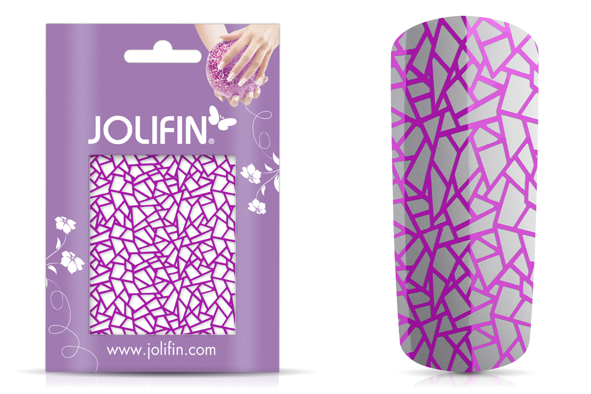 Jolifin Cracked Nailart Folie purple 1