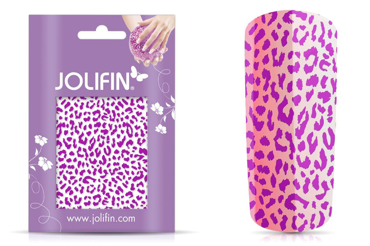 Jolifin Cracked Nailart Folie purple 3