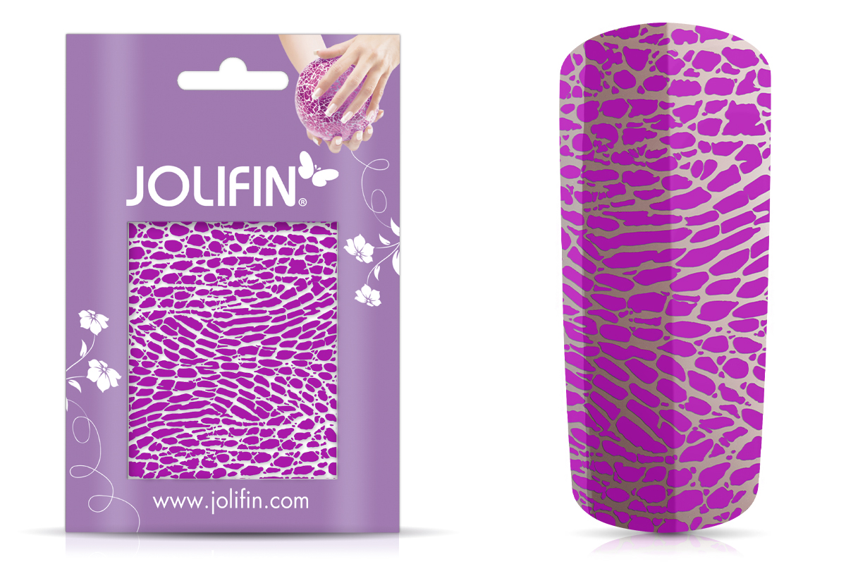Jolifin Cracked Nailart Folie purple 6