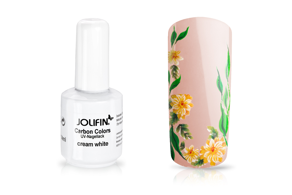 Jolifin Carbon Colors UV-Nagellack cream white 11ml