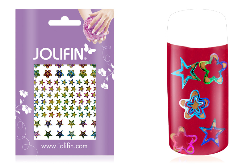 Jolifin Fancy Nail Sticker golden rainbow 4