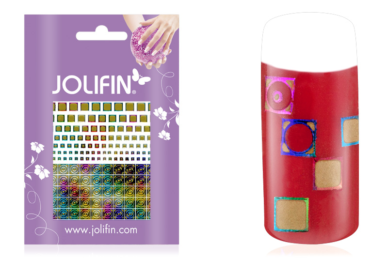 Jolifin Fancy Nail Sticker golden rainbow 8
