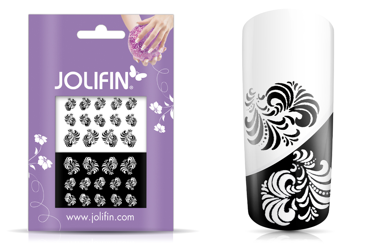 Jolifin Nailart Tattoos black and white Nr. 12