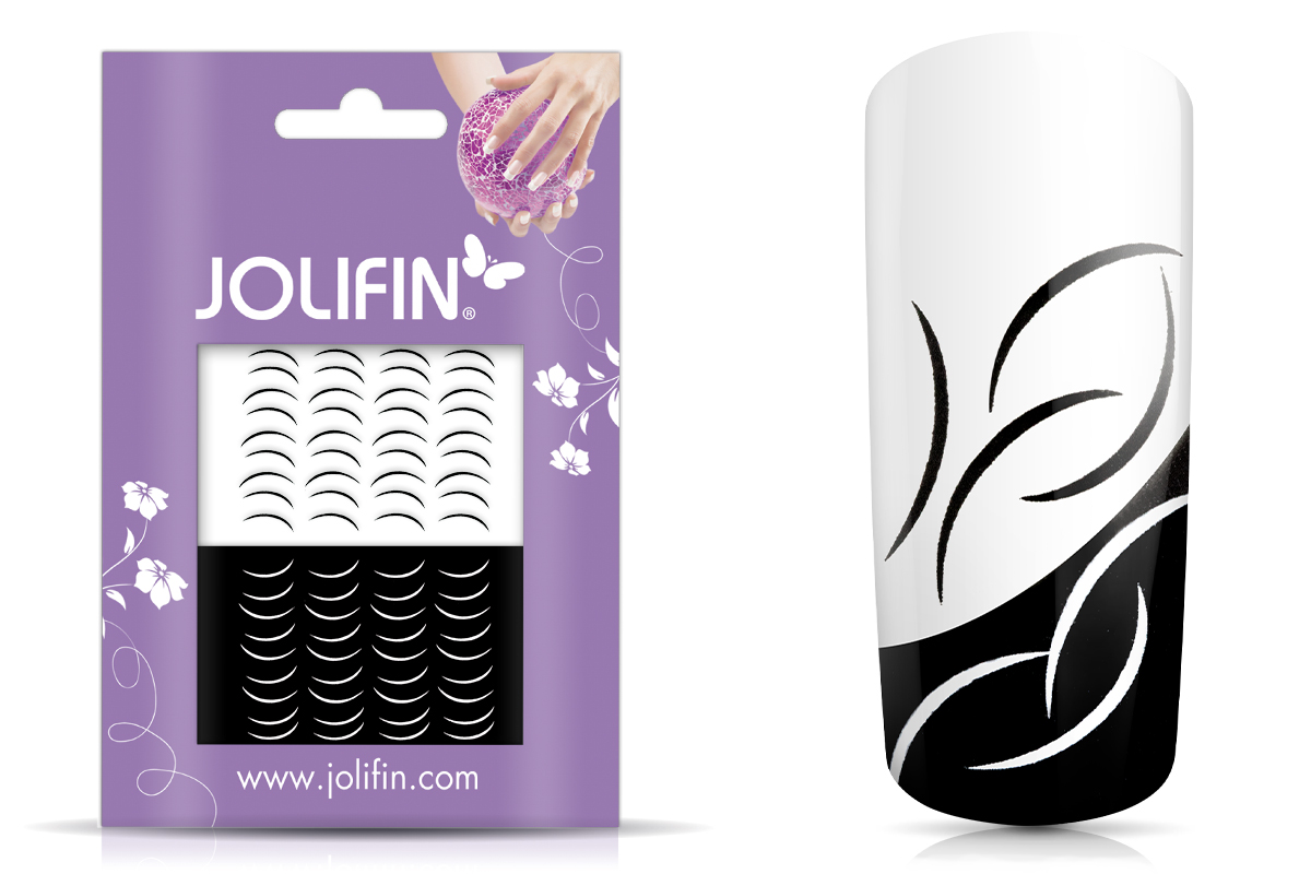 Jolifin Nailart Tattoos black and white Nr. 16