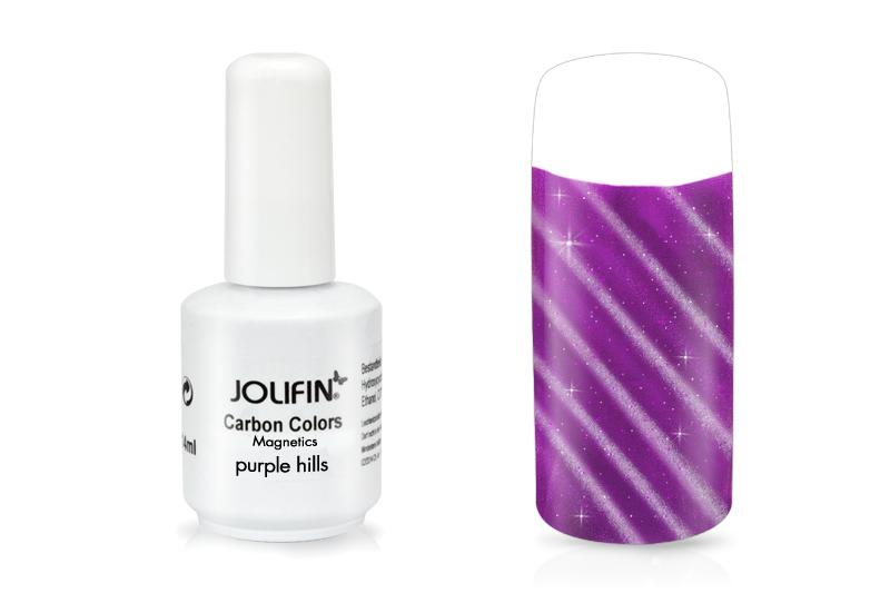 jolifin carbon colors magnetics purple hills 14ml pretty nail shop 24. Black Bedroom Furniture Sets. Home Design Ideas