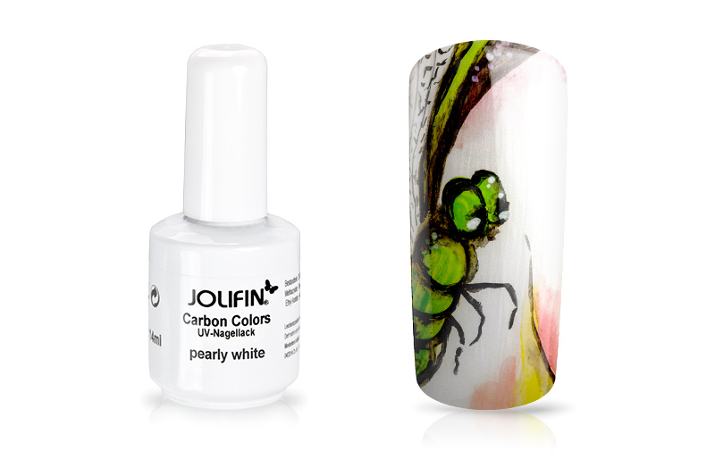 Jolifin Carbon Quick-Farbgel - pearly white 11ml