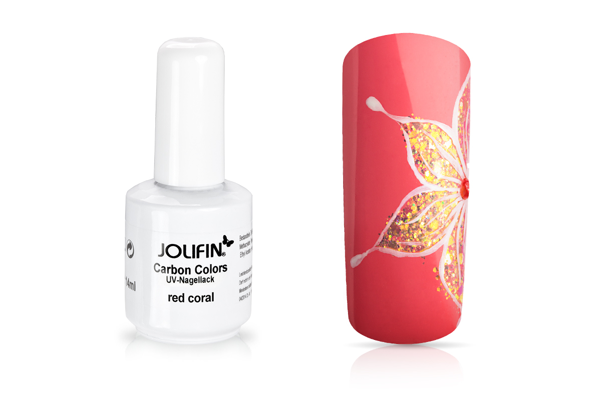 Jolifin Carbon Quick-Farbgel - red coral 11ml