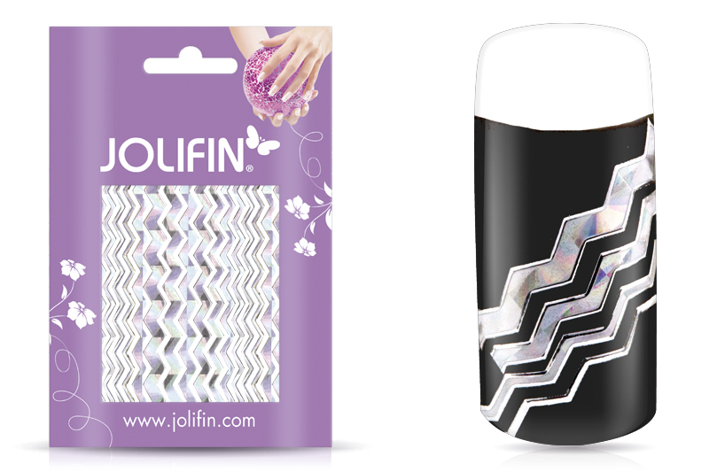 Jolifin Fancy Nail Sticker silver 1