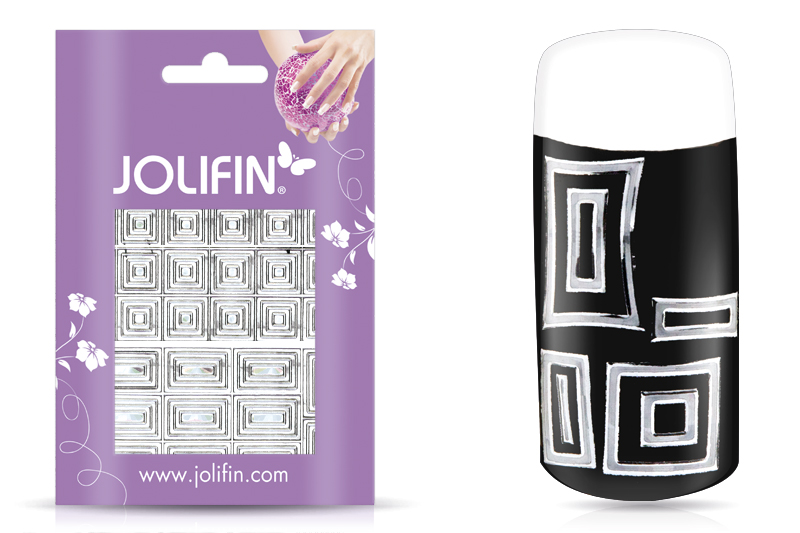 Jolifin Fancy Nail Sticker silver 6