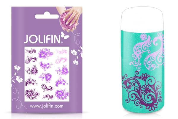 Jolifin Jolly Nailart Tattoo 7 purple