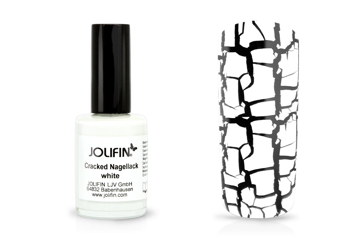Jolifin Cracked Nagellack white 14ml - Pretty Nail Shop 24
