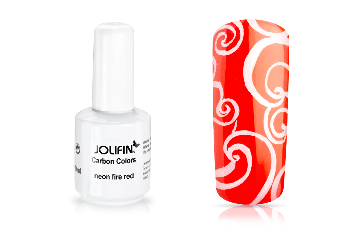 Jolifin Carbon Colors UV-Nagellack neon fire red 11ml