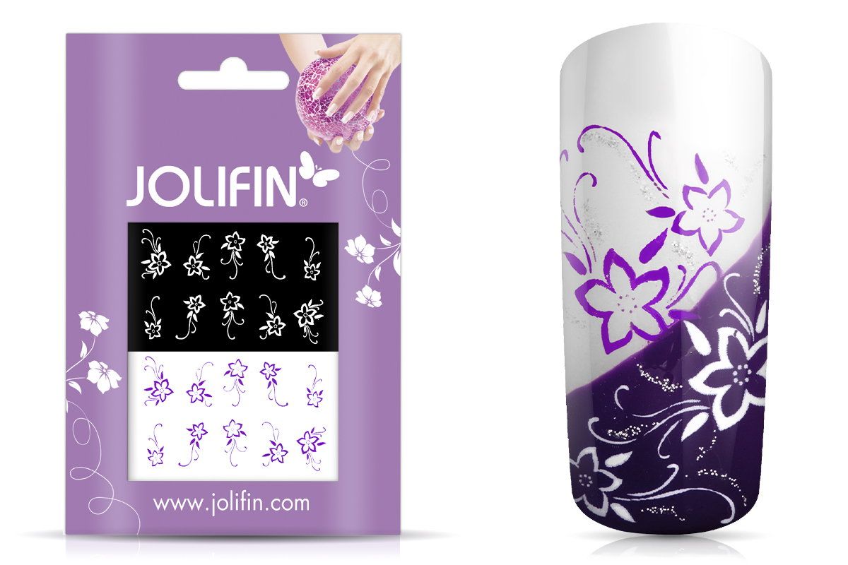 Jolifin Nailart Tattoos purple and white Nr. 1