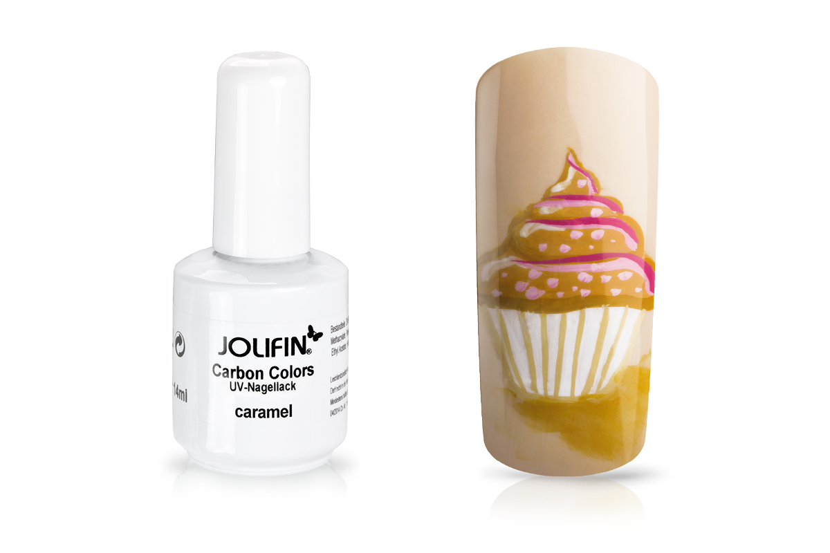 Jolifin Carbon Quick-Farbgel - caramel 11ml
