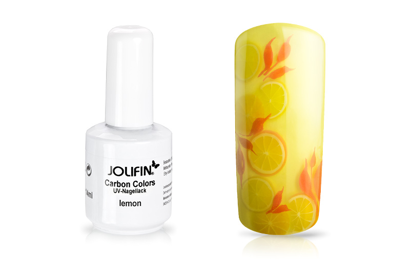 Jolifin Carbon Colors UV-Nagellack lemon 14ml