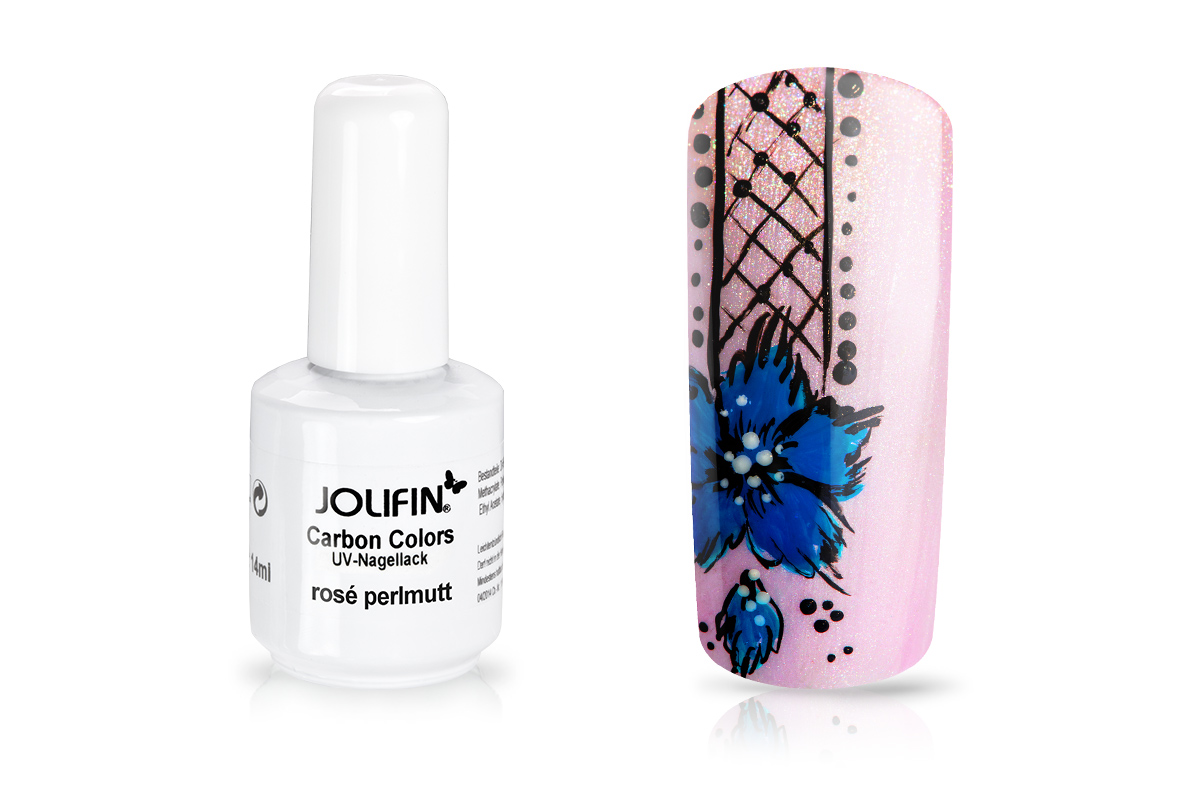 Jolifin Carbon Colors UV-Nagellack rosé perlmutt 11ml