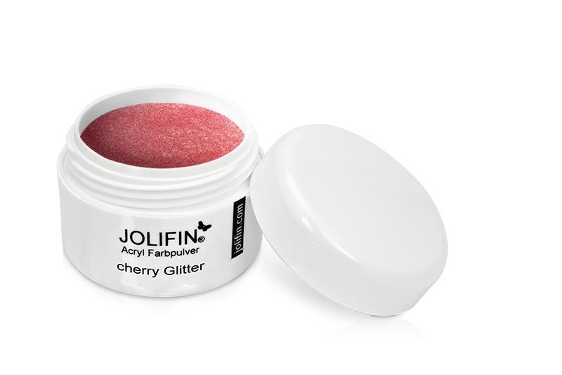 Jolifin Acryl Farbpulver cherry glitter 5g