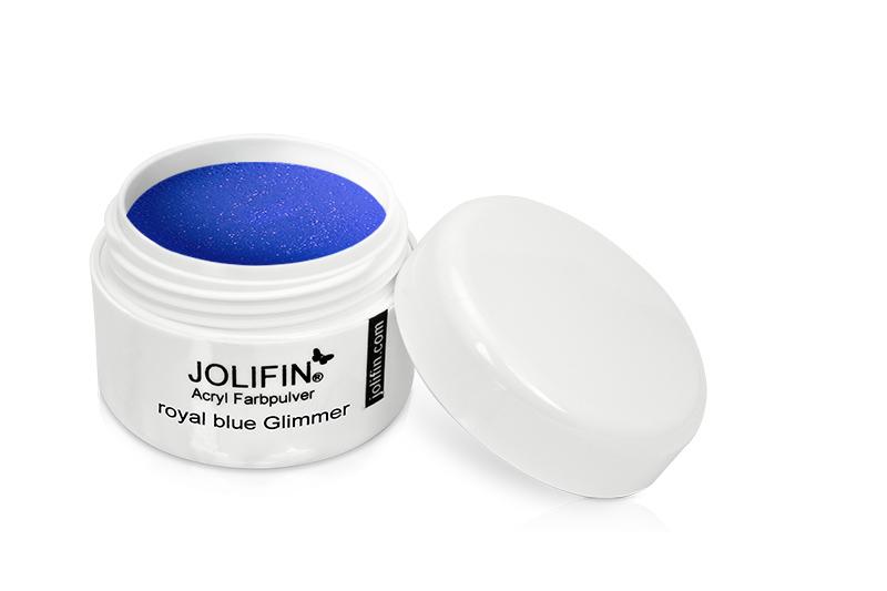 Jolifin Acryl Farbpulver royal blue glimmer 5g