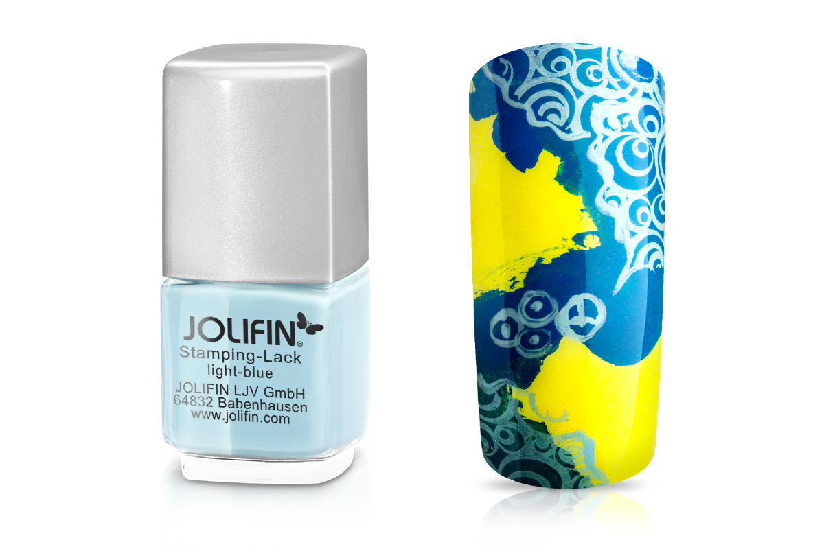 Jolifin Stamping-Lack - light-blue 12ml