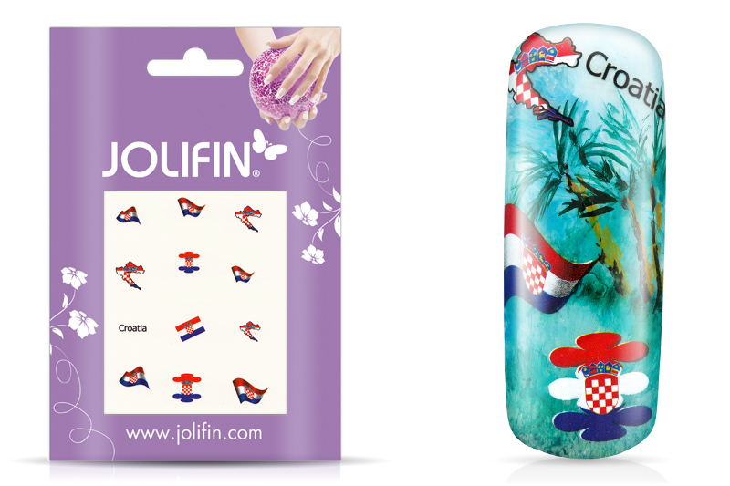 Jolifin Fussball Nailart Tattoo - Croatia