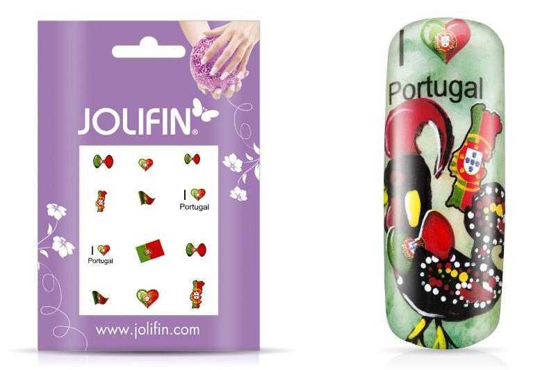 Jolifin Fussball Nailart Tattoo - Portugal