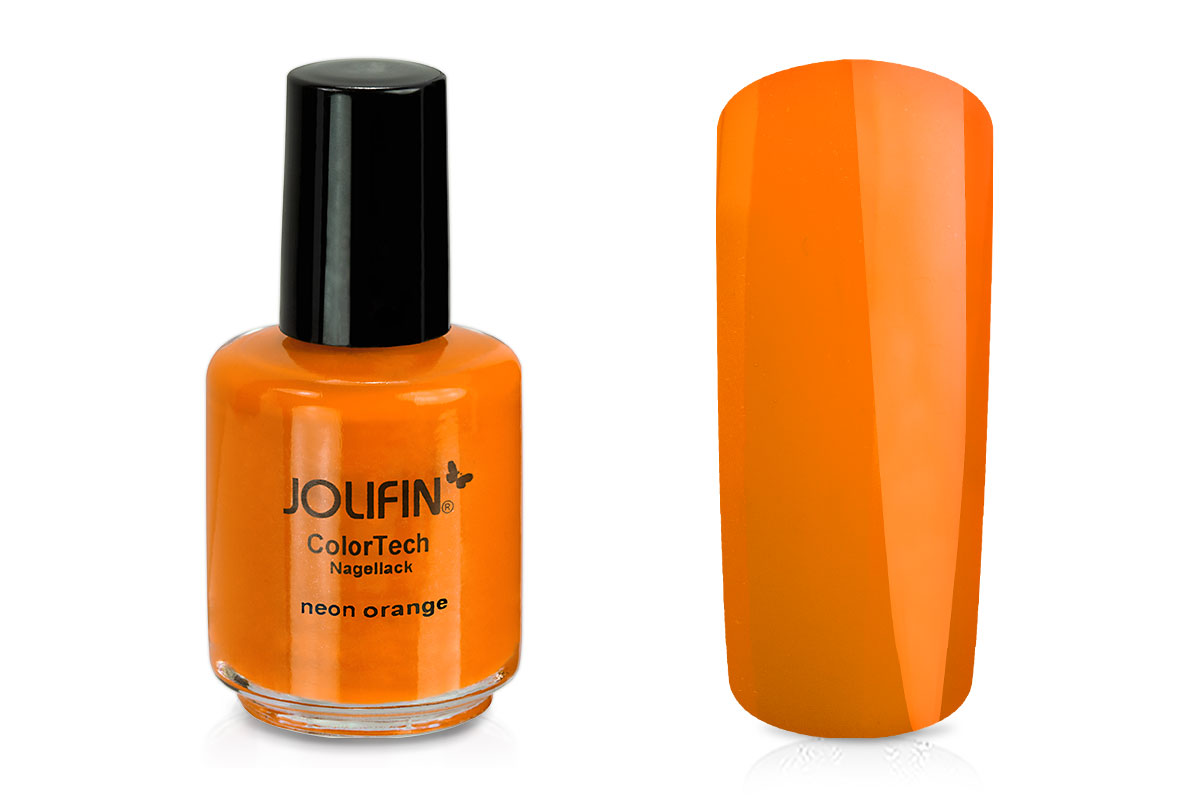 Jolifin ColorTech Nagellack Neon orange 14ml