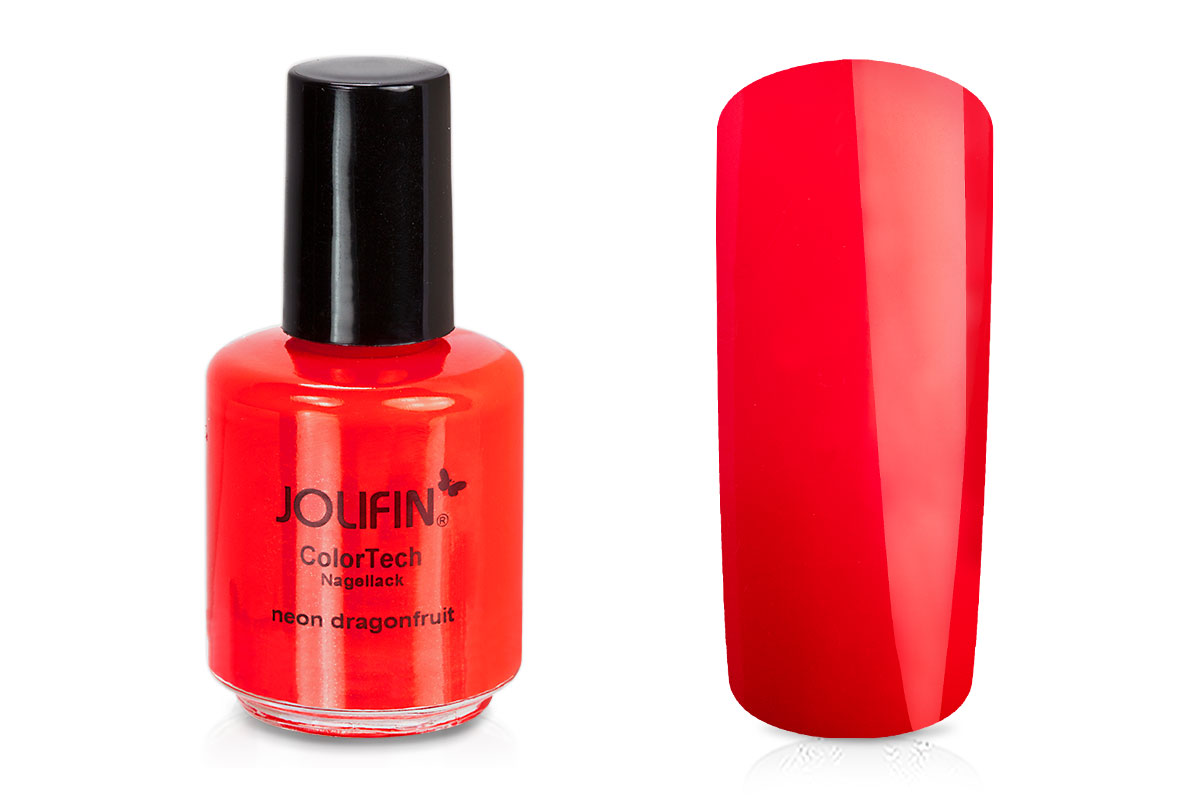 Jolifin ColorTech Nagellack Neon dragonfruit 14ml